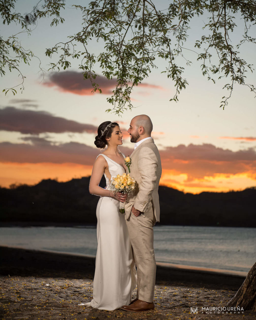 El Mangroove Beach Wedding | Costa Rica Destination Wedding Photographer | Sunset Portrait of Bride & Groom
