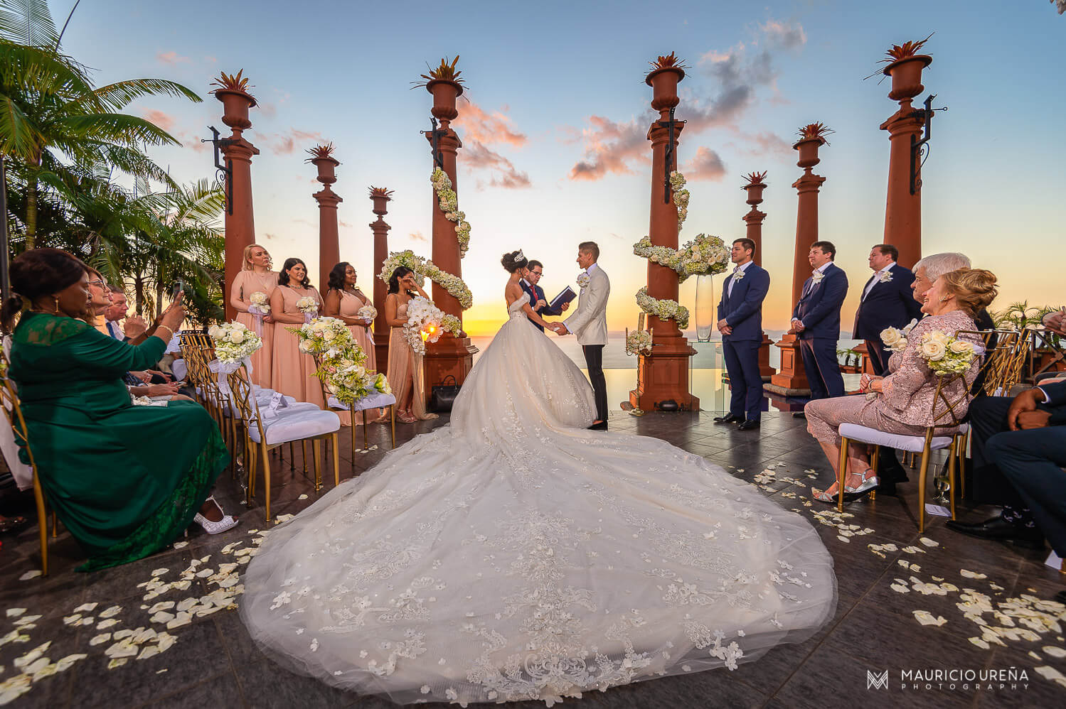 Zephyr Palace Wedding at Villa Caletas | Costa Rica Luxury Wedding Venue at Jaco Central Pacific Area | Noel Ibo Campos Costa Rica Wedding Officiant