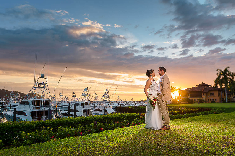 Los Sueños Marriott & Marina | Sunset Portrait Session | Costa Rica Wedding Photographer | Mauricio Ureña Photography